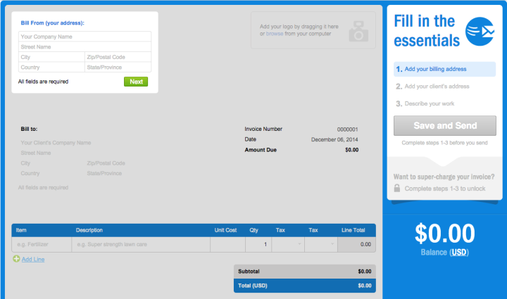 Free Freelance Invoice Templates And Generators Ben Matthews - Freshbooks free invoice for service business