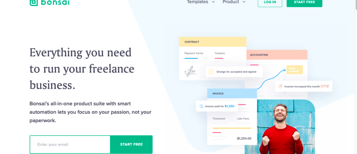Hello Bonsai Review - Freelance Invoice and Contract Software